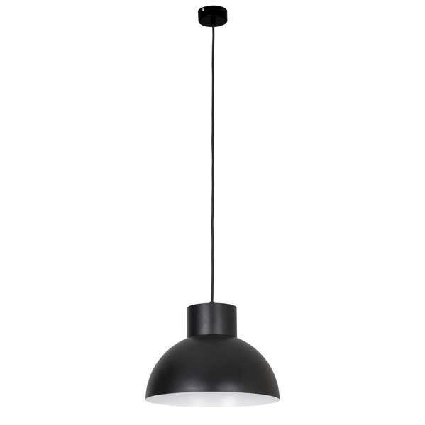 Lampa nad bar WORKS BLACK śr. 33cm czarna