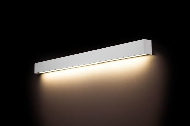 Kinkiet Straight Wall Led White L 122cm