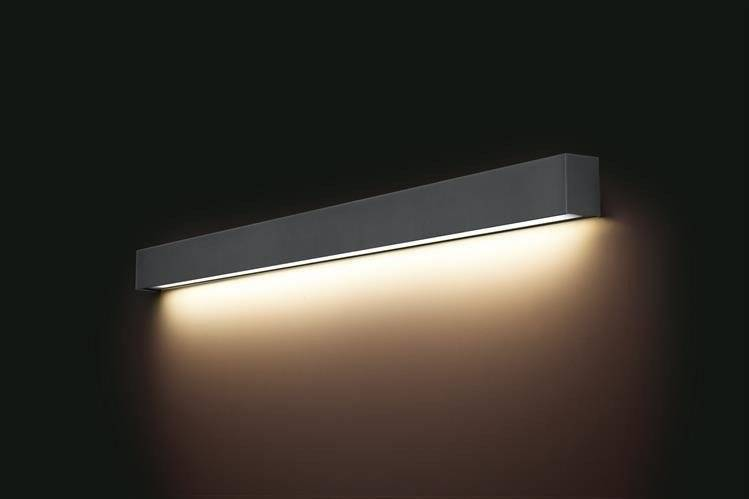Kinkiet STRAIGHT WALL LED GRAPHITE L 122cm