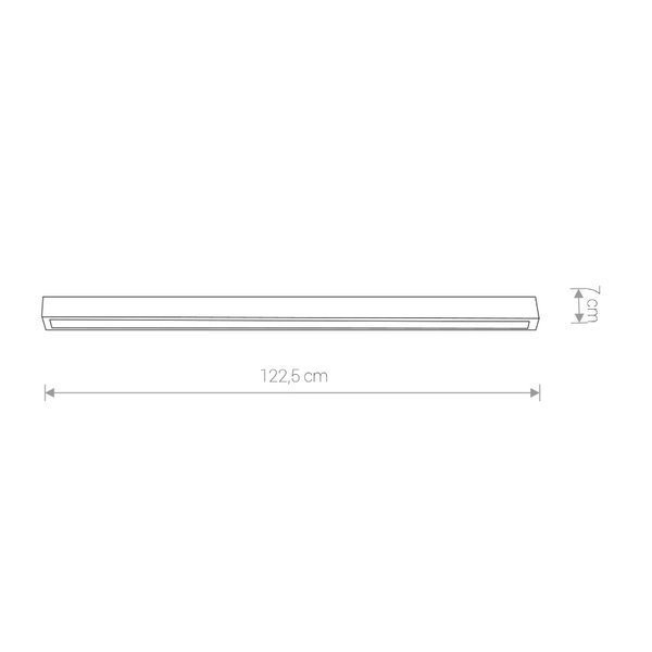 Lampa STRAIGHT LED white L ceiling122cm