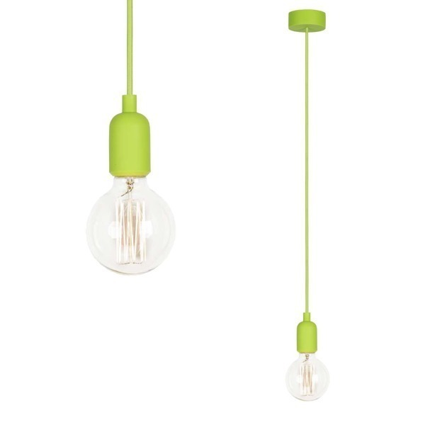 Lampa SILICONE GREEN 90cm zielony kabel 6405