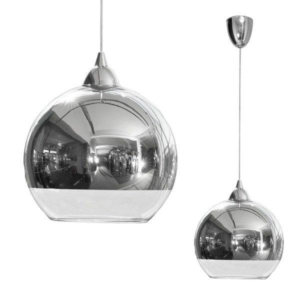 Lampa srebrna kula GLOBE M śr 25cm