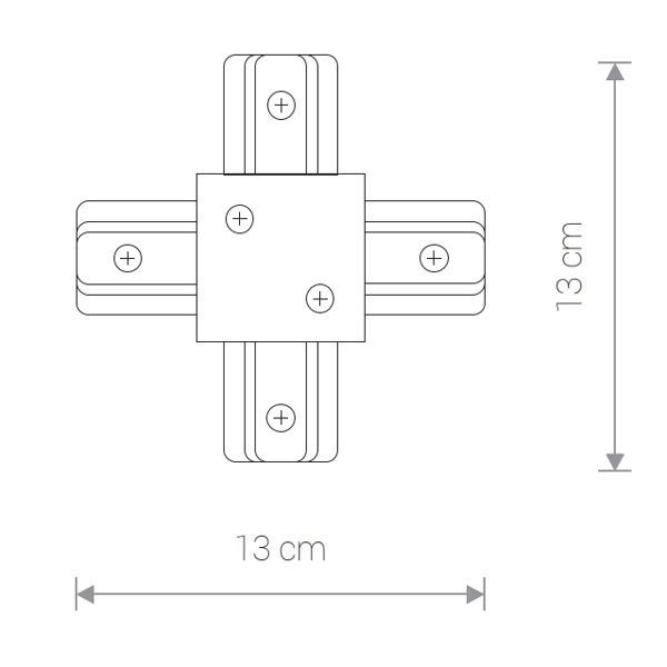 Łącznik PROFILE RECESSED x CONNECTOR czarny