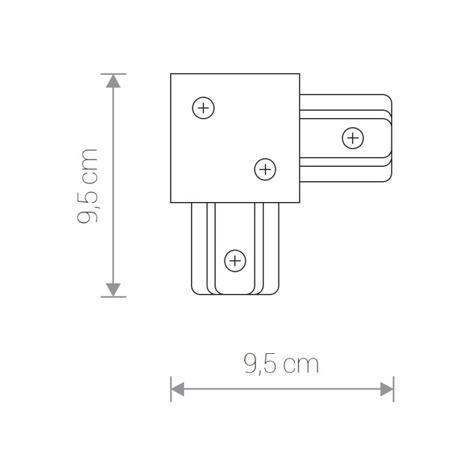 Łącznik kątowy PROFILE RECESSED L-CONNECTOR WHITE