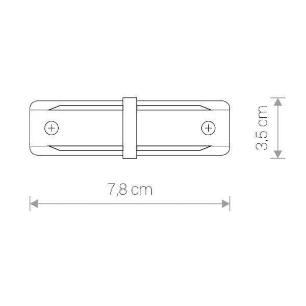Łącznik wzdłużny PROFILE STRAIGHT CONNECTOR biały
